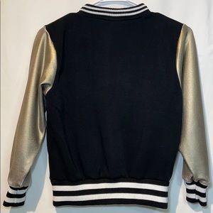 Girls Love Pink Jackets & Coats - Girls love Pink sweatshirt in black and gold 10/12